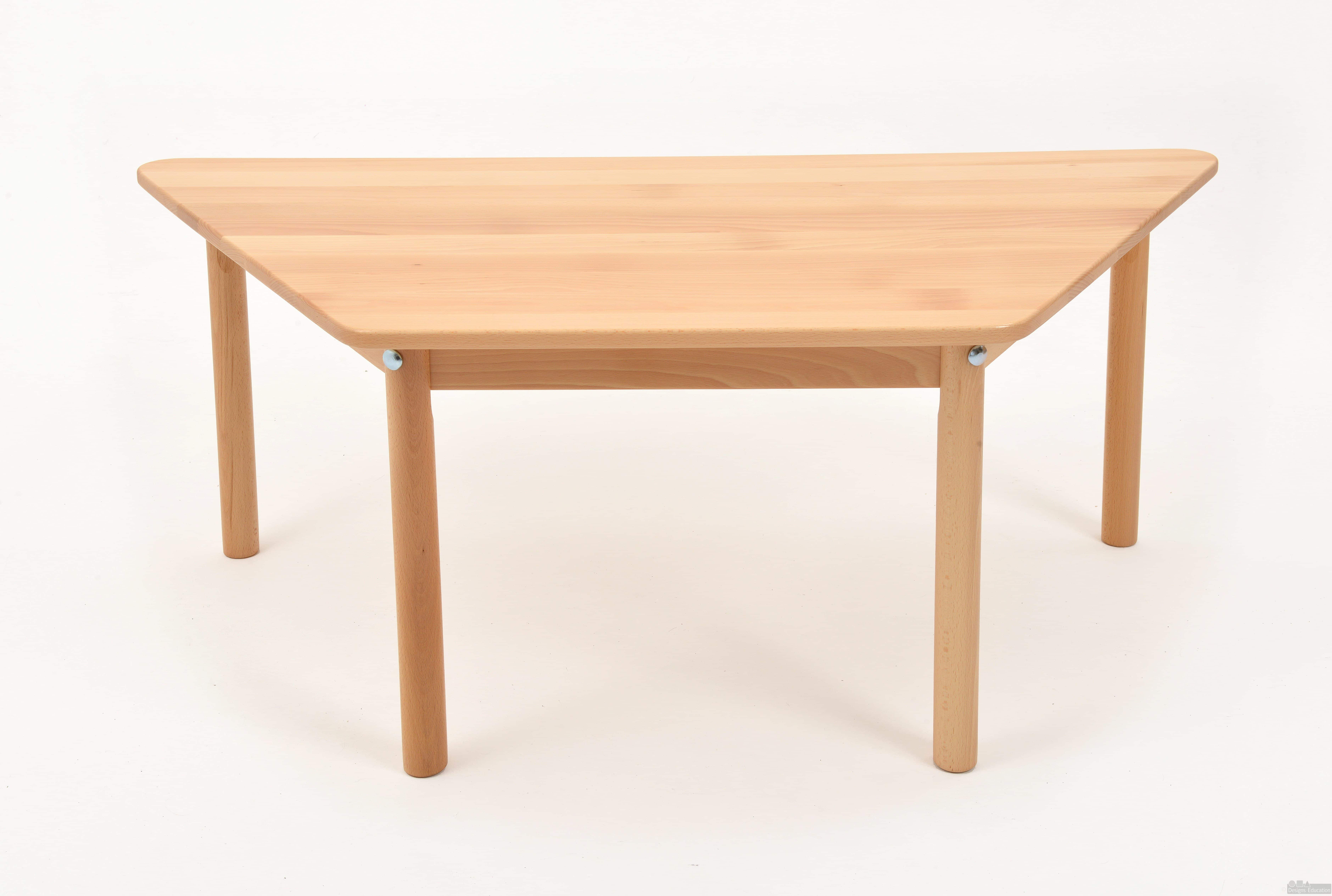Trapezoidal rectangular table offer designs for education for Trapezoid table