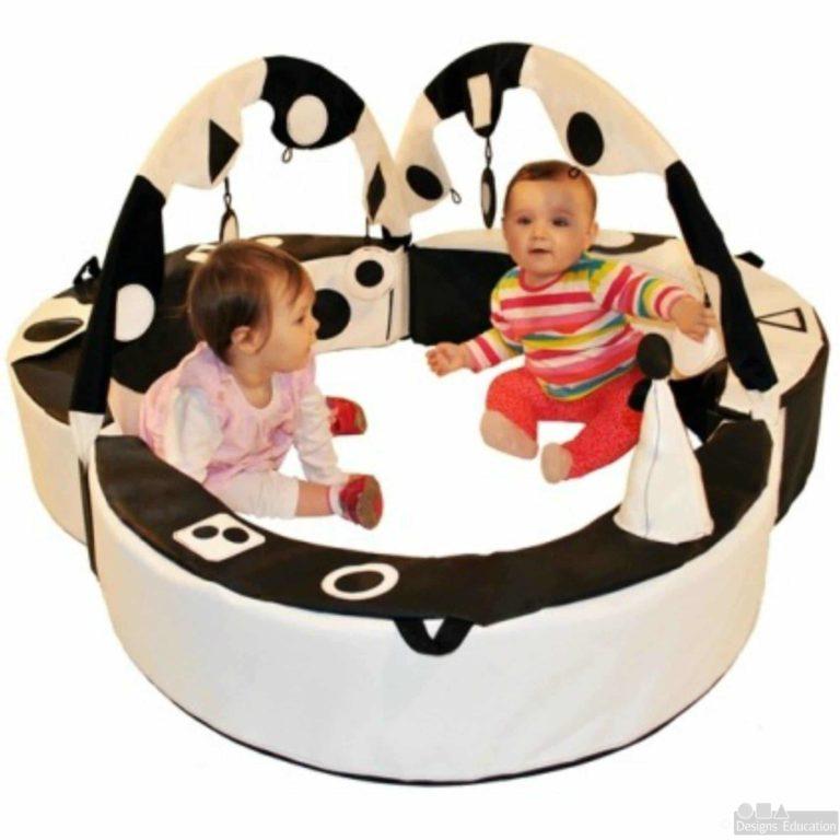 black and white crescent ring trio new web