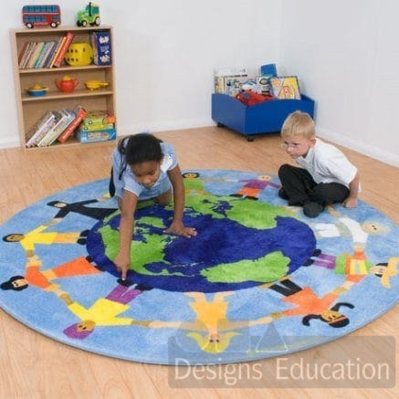 Children Of The World Multicultural Carpet Designs For