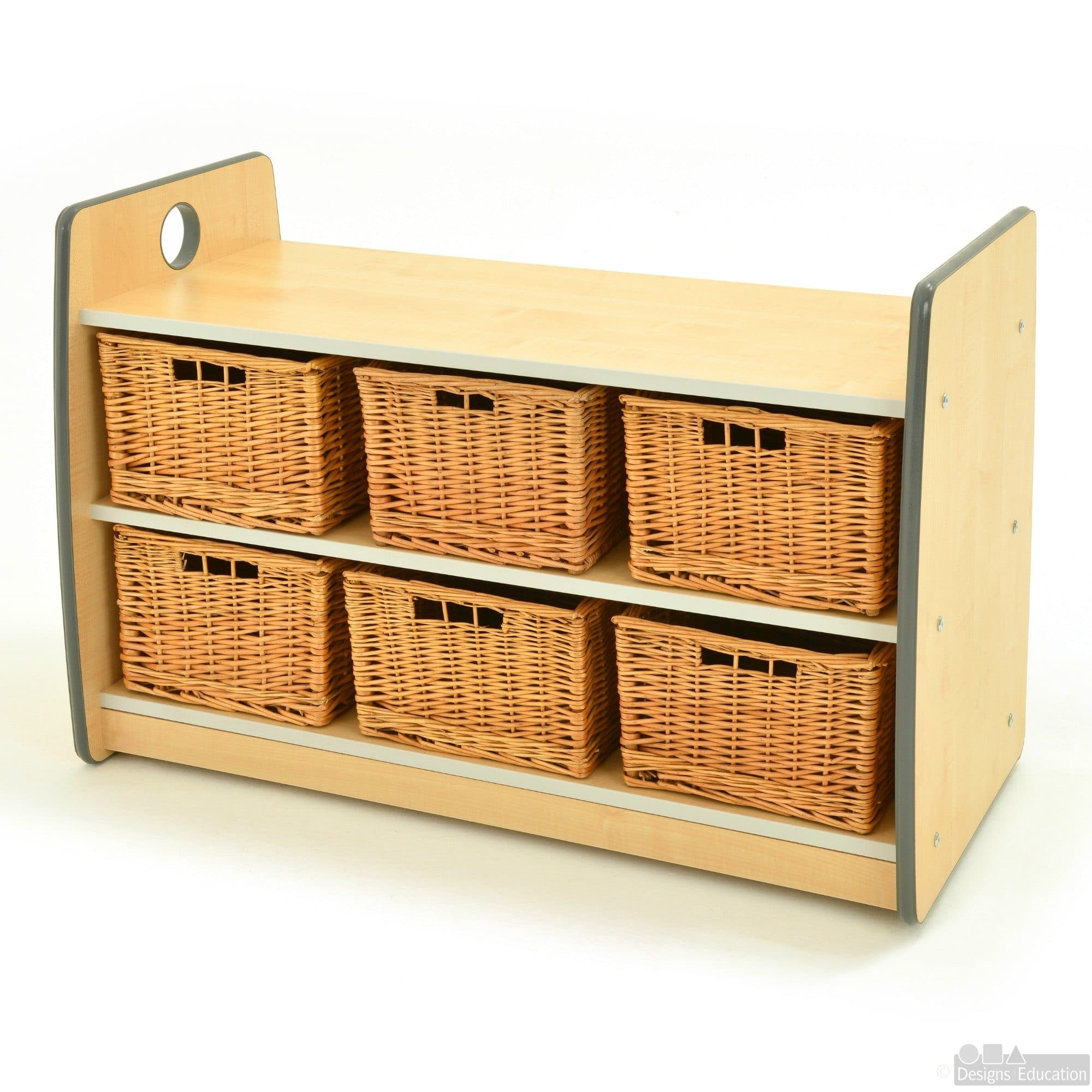 Storage Express Home: Express Size 2 Shelving Unit 6 Baskets