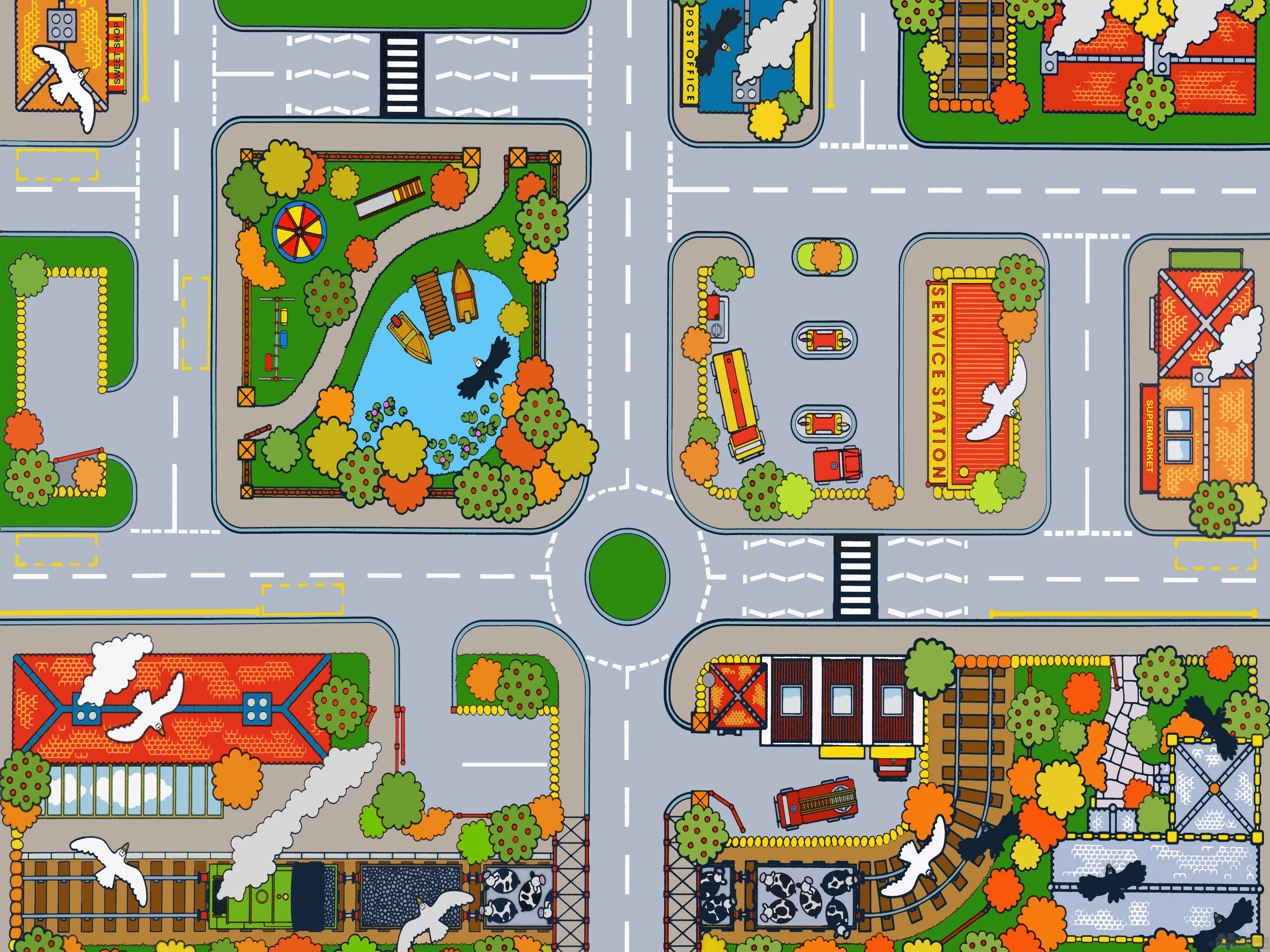 Early Years Town Play Mat - Designs For Education